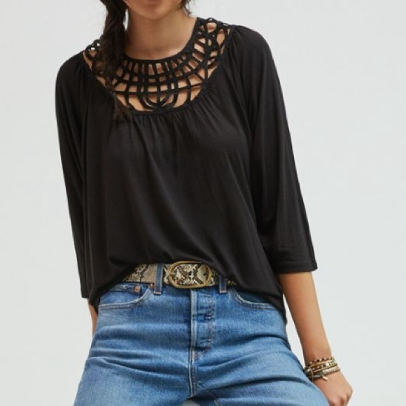 Anthropologie Tops - NWT embroidered lace top anthro